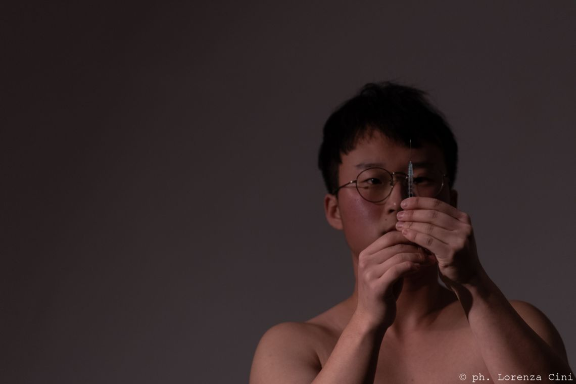 Kahn Jinoh Ryu, Venice International Performance Art Week 2020, Co-Creation Live Factory, Photograph © Lorenza Cini