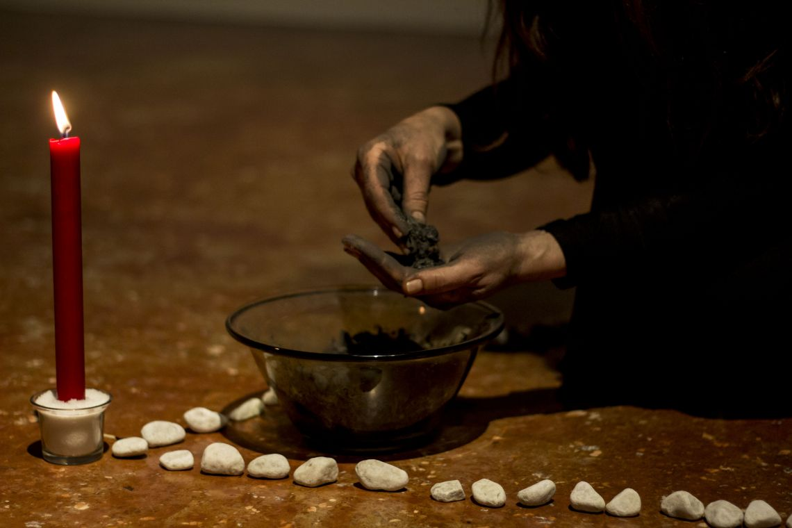 Sivitri Delphia, Venice International Performance Art Week 2020, Co-Creation Live Factory, Photograph © Fenia Kotsopoulou